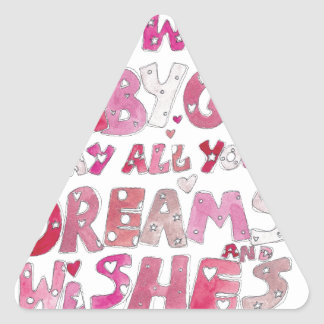 Welcome To The World Baby Girl Triangle Sticker