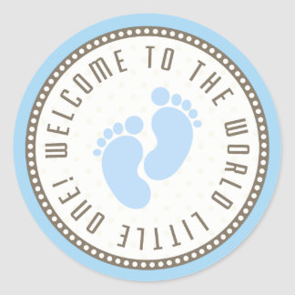 Welcome To The World Little One Round Sticker