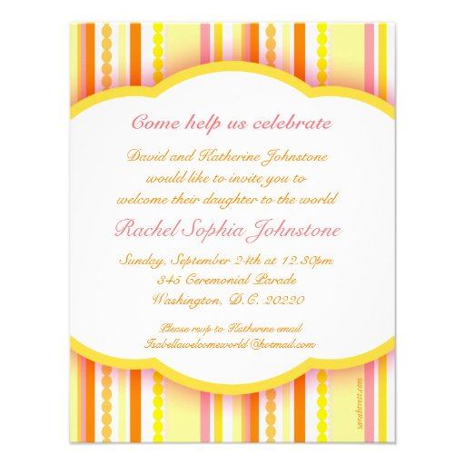 welcome to the world party photo invitation card 4 25 u0026quot  x 5