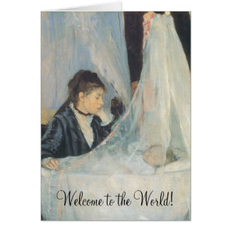 Welcome to the World, The Cradle by Berthe Morisot Card
