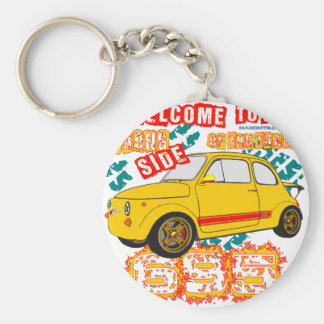 Welcome to the Wrong Side of the Track Basic Round Button Key Ring