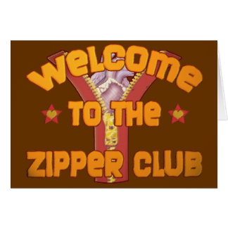 Welcome to the Zipper Club Greeting Card