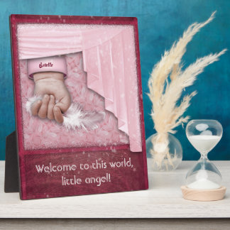 Welcome to this World, little Angel Girl Plaque