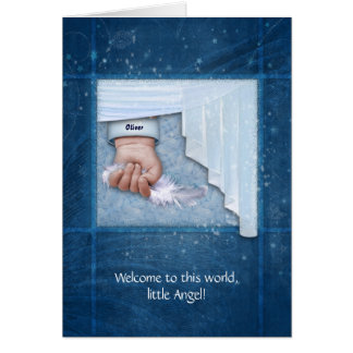 Welcome to this World, little Angel Greeting Card