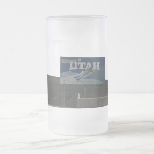 Welcome to Utah Cake Frosted Mug
