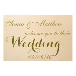 Welcome to Wedding Party Wood Canvas