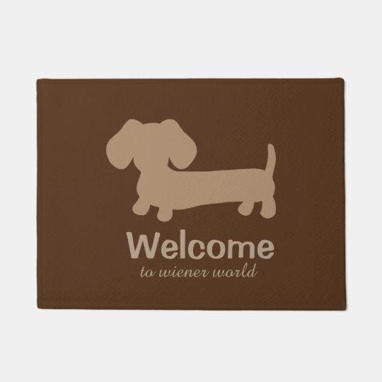 Welcome to Wiener Dog World Front Door mat