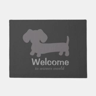Welcome to Wiener Dog World Front Door mat Doormat