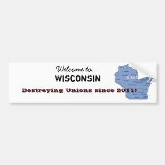 Welcome to Wisconsin! Bumper Sticker