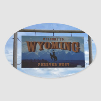 Welcome to Wyoming Oval Sticker
