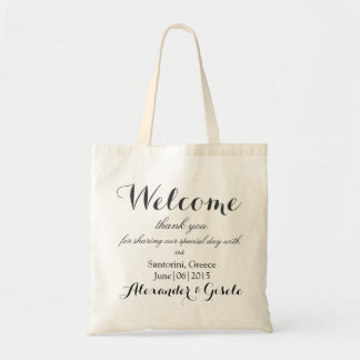Welcome Wedding Guest Gift Tote Bag