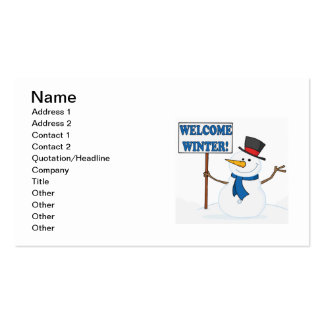 Welcome Winter Double-Sided Standard Business Cards (Pack Of 100)