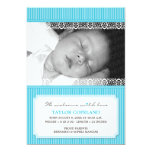 Welcome With Love Modern Baby Birth Announcement 13 Cm X 18 Cm Invitation Card