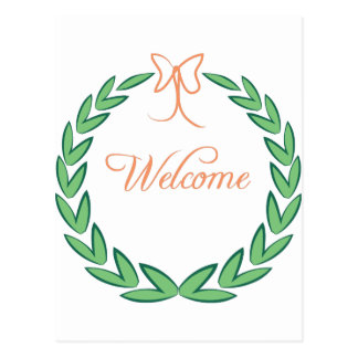 Welcome Wreath Postcard