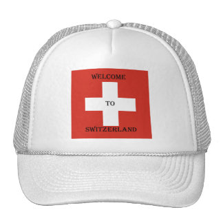 welcome you switzerland hat