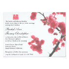Welcoming Spring Sakura Double Happiness Wedding© Card