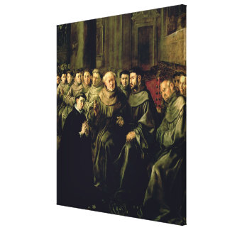 Welcoming St. Bonaventure into the Franciscan Canvas Print