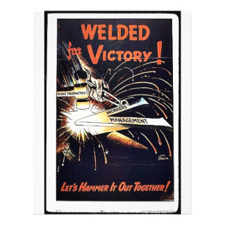Welded For Victory 21.5 Cm X 28 Cm Flyer
