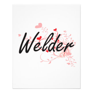Welder Artistic Job Design with Hearts 11.5 Cm X 14 Cm Flyer