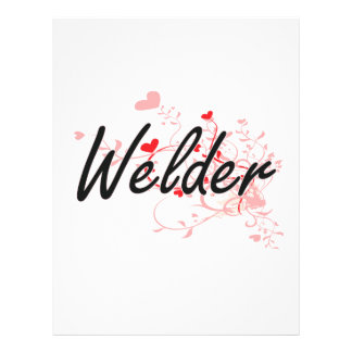 Welder Artistic Job Design with Hearts 21.5 Cm X 28 Cm Flyer