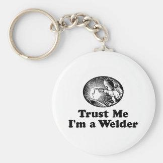 Welder Basic Round Button Key Ring