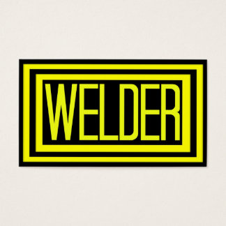 Welder Black and Yellow Matted Frame