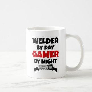 Welder by Day Gamer by Night Basic White Mug