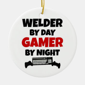 Welder by Day Gamer by Night Christmas Ornament