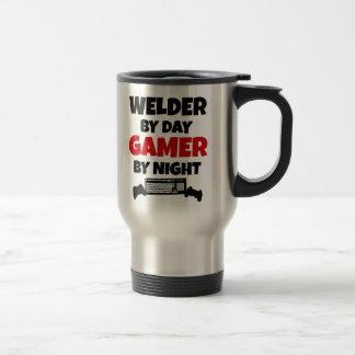 Welder by Day Gamer by Night Stainless Steel Travel Mug