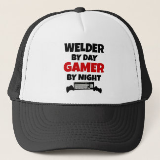 Welder by Day Gamer by Night Trucker Hat