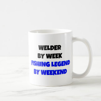 Welder by Week Fishing Legend By Weekend Coffee Mug