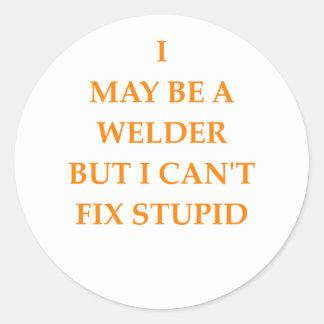 welder classic round sticker