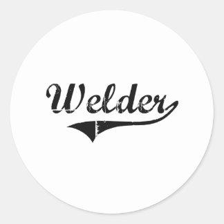 Welder Professional Job Round Sticker