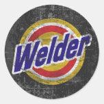 Welder Round Sticker
