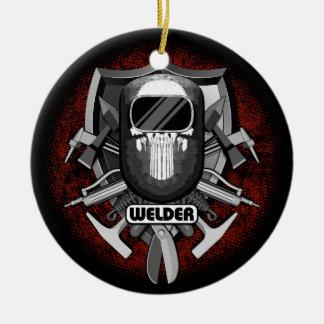 Welder Skull Christmas Ornament