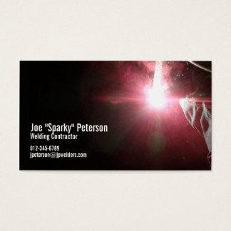 Welder Welding Torch Red Business Card