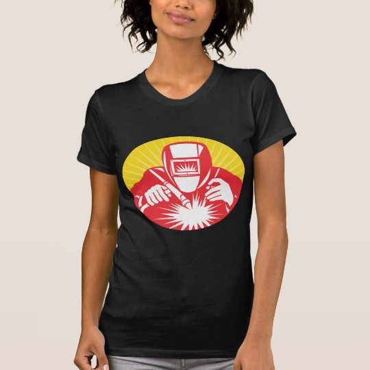 welder welding  worker retro T-Shirt