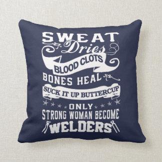 Welder Woman Cushion