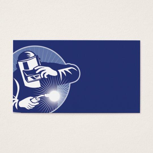 welder working welding business card