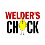 Welder's Chick Postcard