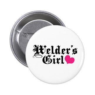 Welder's Girl 6 Cm Round Badge