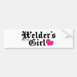 Welder's Girl Bumper Sticker
