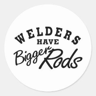 Welders Have... Round Stickers