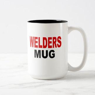 Welders Mug, welding gifts Two-Tone Coffee Mug