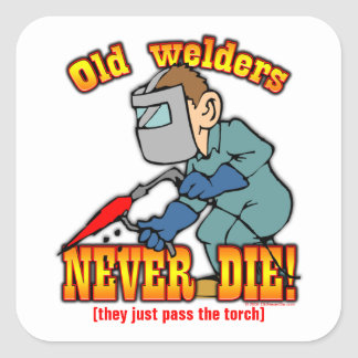 Welders Square Sticker