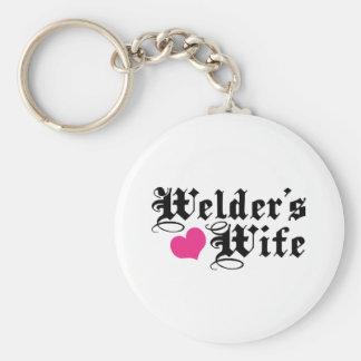 Welder's Wife Basic Round Button Key Ring