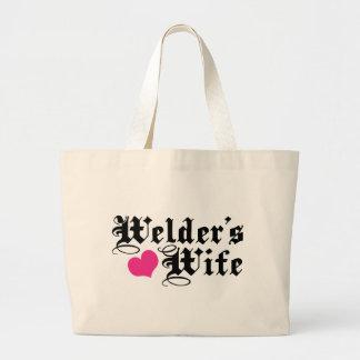 Welder's Wife Jumbo Tote Bag