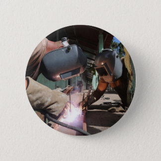 Welding 6 Cm Round Badge