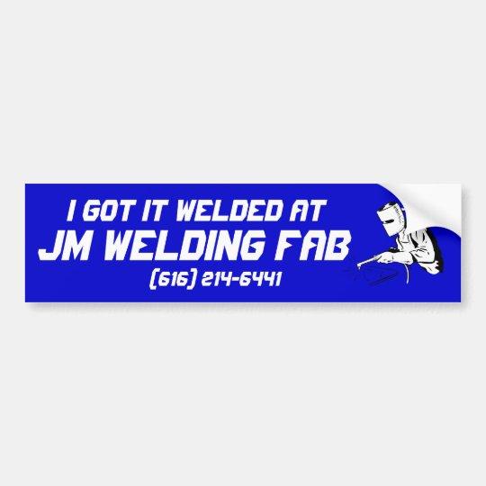 welding bumper sticker