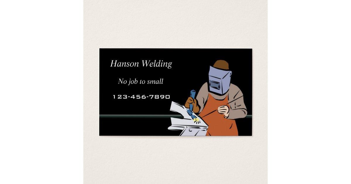Welding business card | Zazzle.co.uk